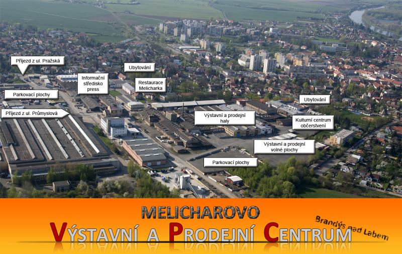 Mapa areálu VPC Brandýs nad Labem